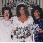 Mom, Jeanna and me at her wedding, 1992.